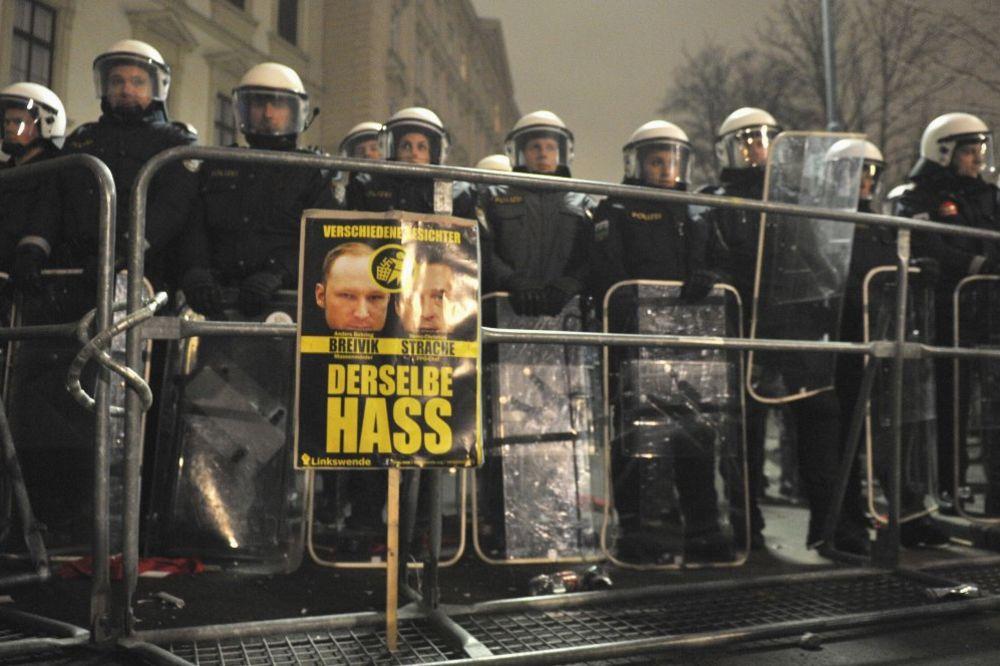 Beč: Šest policajaca povređeno u neredima levičara