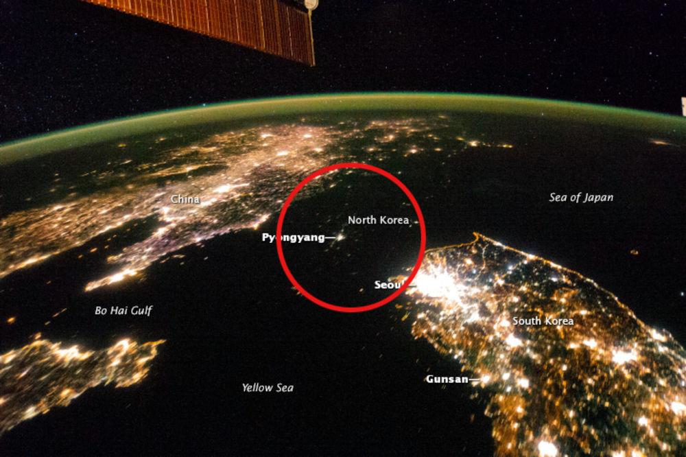 Severna Koreja, foto NASA