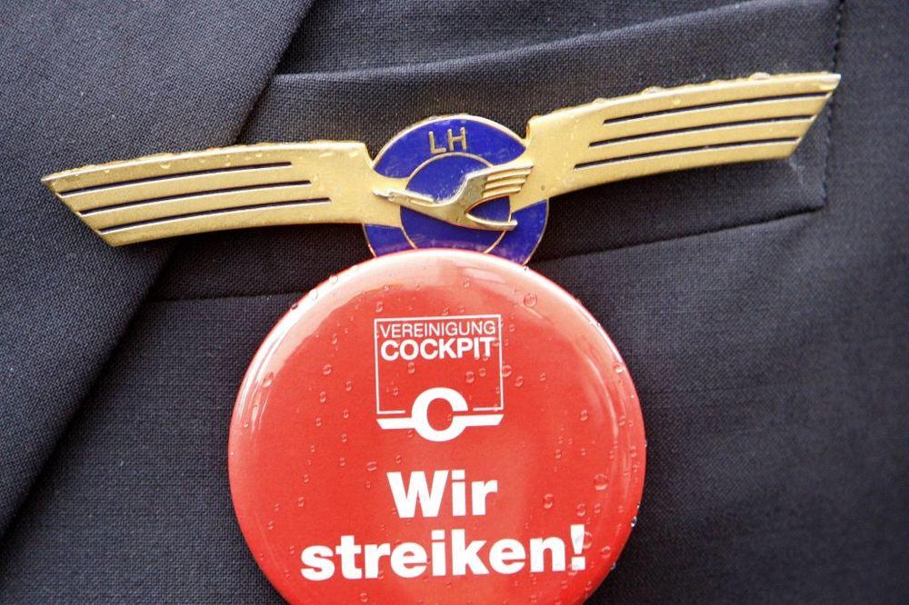ŠTRAJK U LUFTHANZI: Nemački piloti bune se zbog penzija