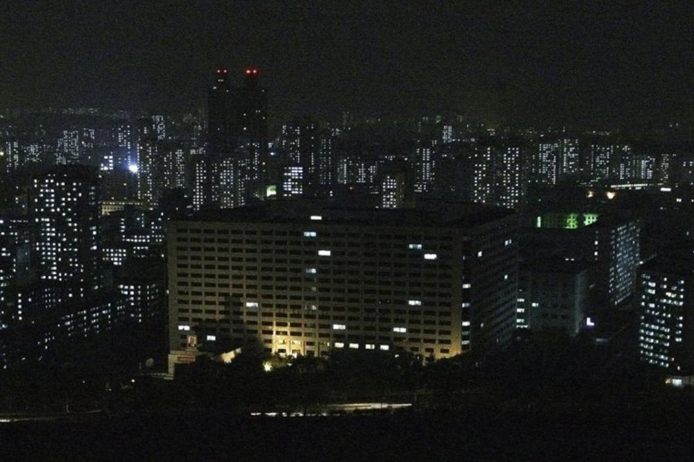Pjongjang noću