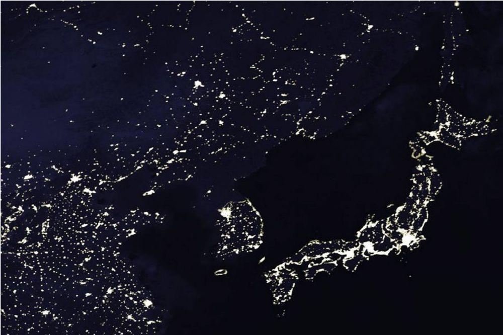 Severna Koreja noću (Foto: AP)