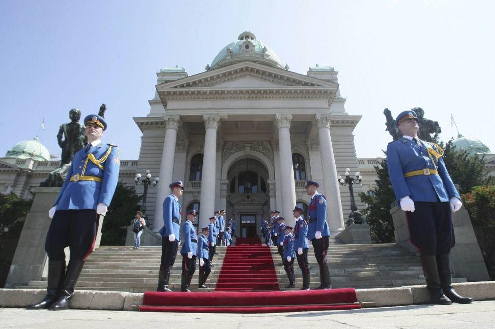 JESENJE ZASEDANJE: U parlamentu Garda Vojske Srbije i intoniranje himne