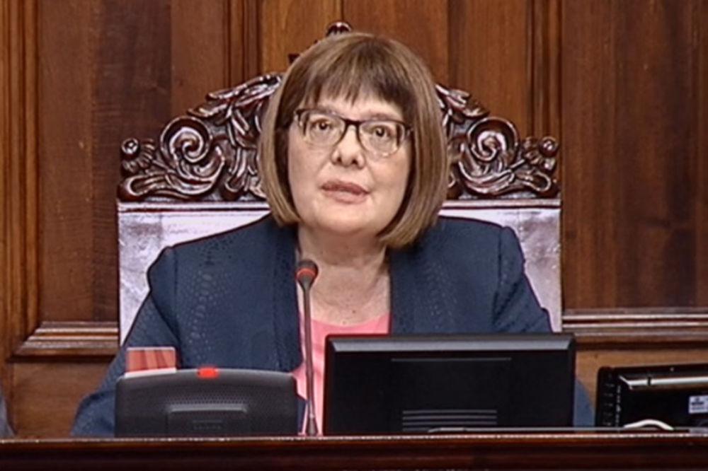 SKUPŠTINA SRBIJE: Maji Gojković 35.000 mesečno za zakup stana