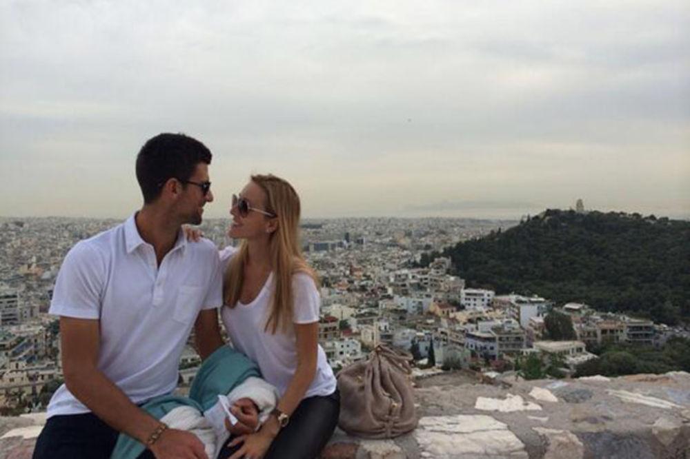 Novak Đoković i Jelena Ristić, Foto: Tviter