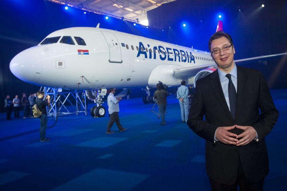 GODIŠNJICA RADA: Vučić danas na proslavi prvog rođendana Er Srbije