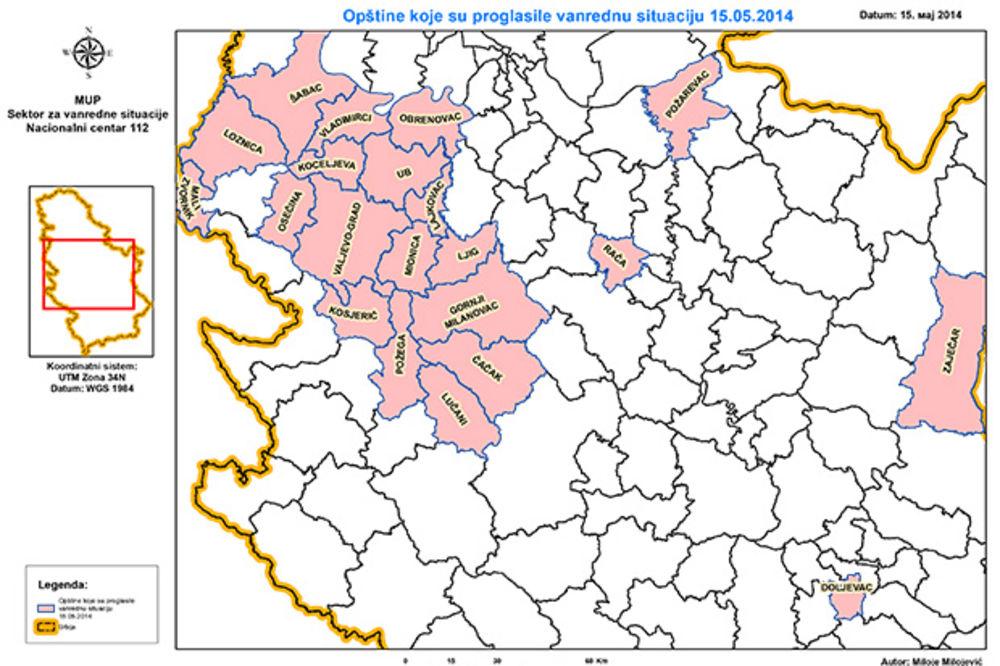 POTOP U SRBIJI: Kod S. Karlovaca odronilo se 700 kubika zemlje ...