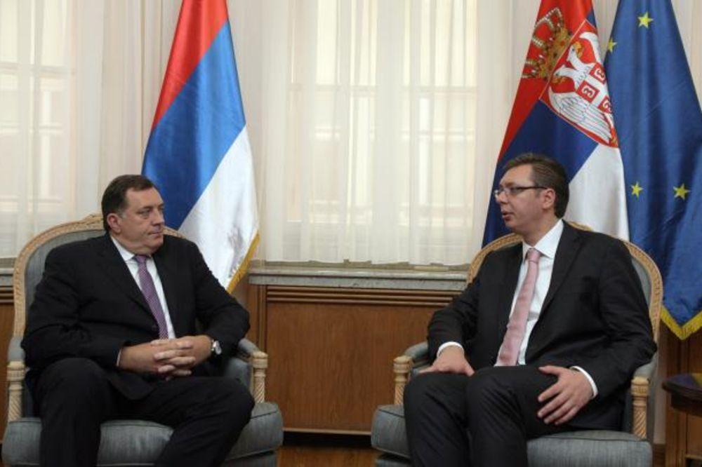 Vučič i Dodik: Rezolucija EP ne doprinosi saradnji u regionu