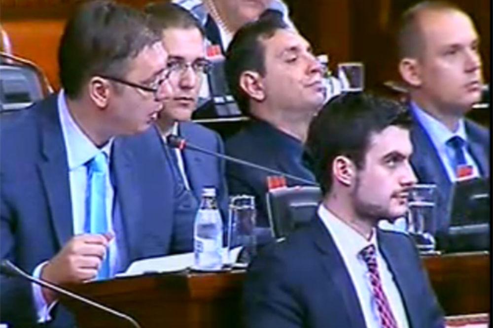 Aleksandar vučić, skupština Srbije, foto Printscreen