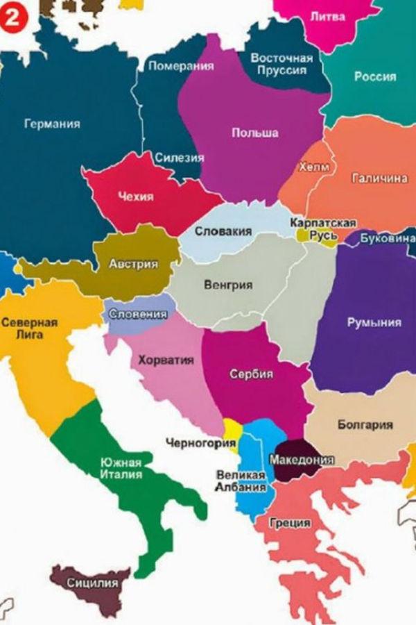 karta evrope 2050 OSTVARUJE SE PUTINOVA KARTA EVROPE: Evo kako ruski predsednik vidi  karta evrope 2050