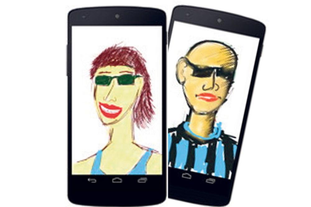 Radovi crtani u mobilnom telefonu