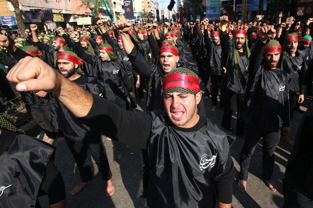 Pripadnici libanskog Hezbolaha, Foto: AP