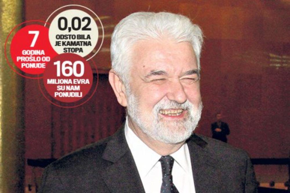 KO ĆE DA ODGOVARA : Cvetković bacio 160 miliona evra!