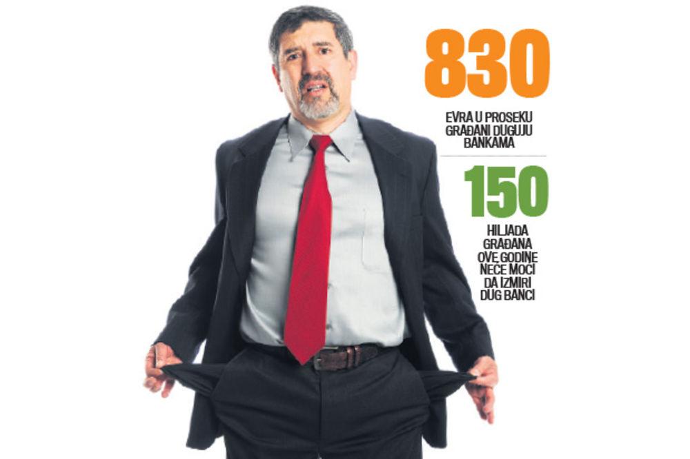 LIČNI STEČAJ: Kolona dužnika pred bankrotom u Srbiji dugačka je 20 kilometara!