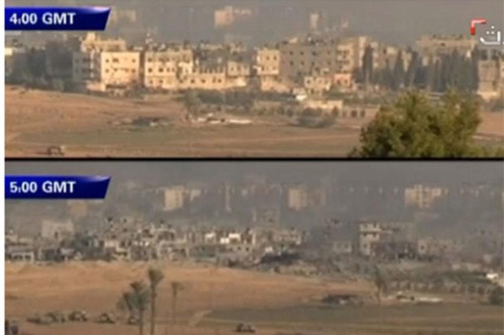(VIDEO) BORBE U GAZI: Izraelska vojska za sat sravnila ulicu u Šeđaiju!