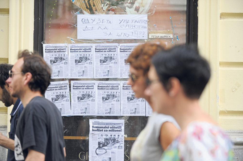 BRUKA: Komunalci u Knez Mihailovoj ulici terorišu slikare!