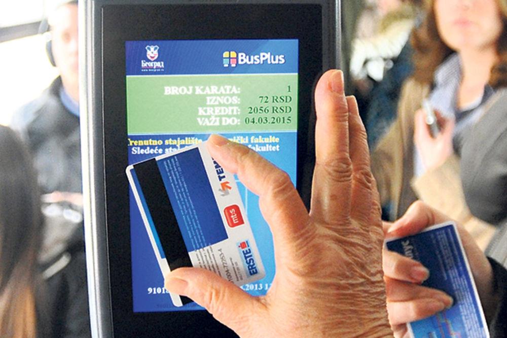 BUS PLUS: Od danas dopuna kartica za maj