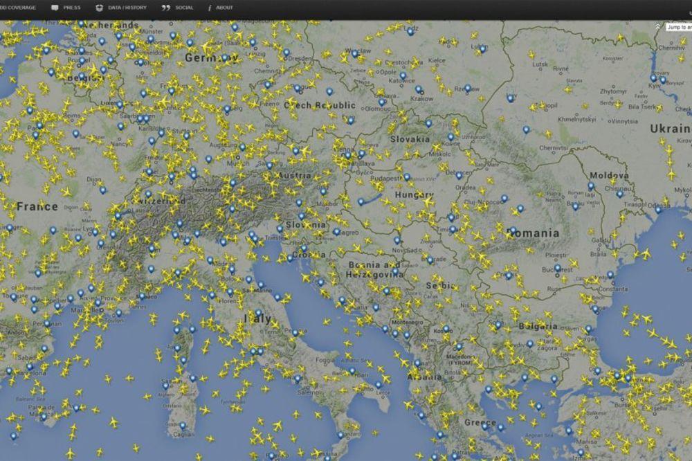 Puno nebo nad Evropom