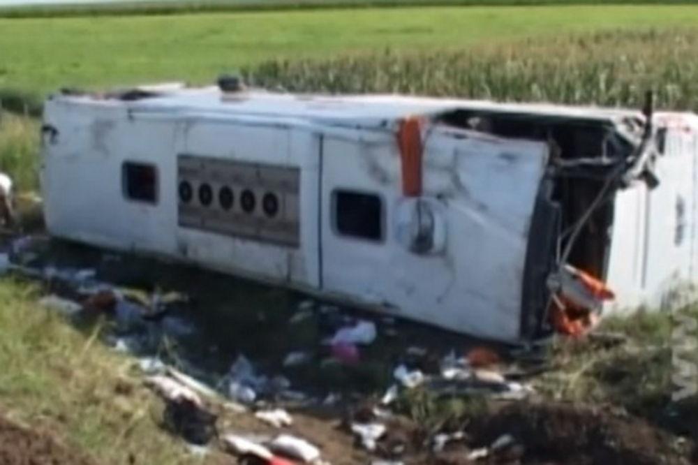 (VIDEO) SUBOTICA: Prevrnuo se autobus, poginula putnica, 30 povređeno
