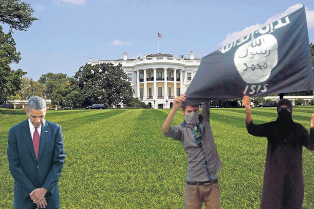 TERORISTI PRETE AMERICI: Ispred Bele kuće osvanula zastava Islamske države!