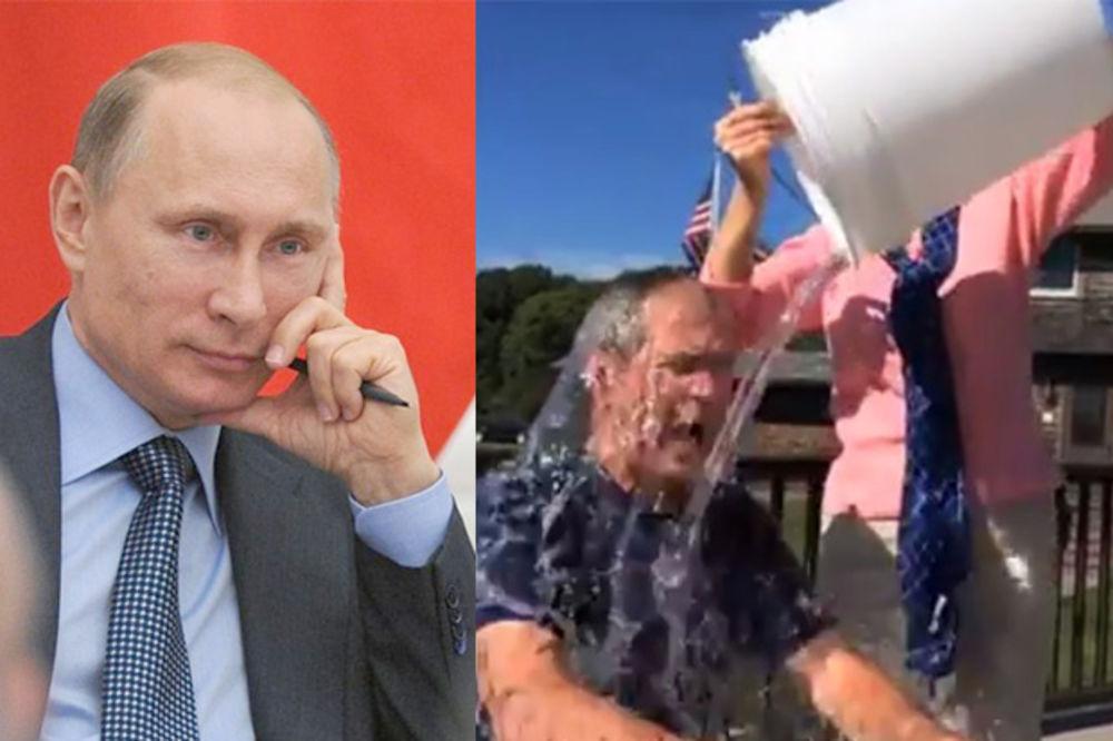 (VIDEO) RUSKO ISTORIJSKO NE: Putine, to je samo kofa ledene vode! Pogledaj, i Buš se zalio!!