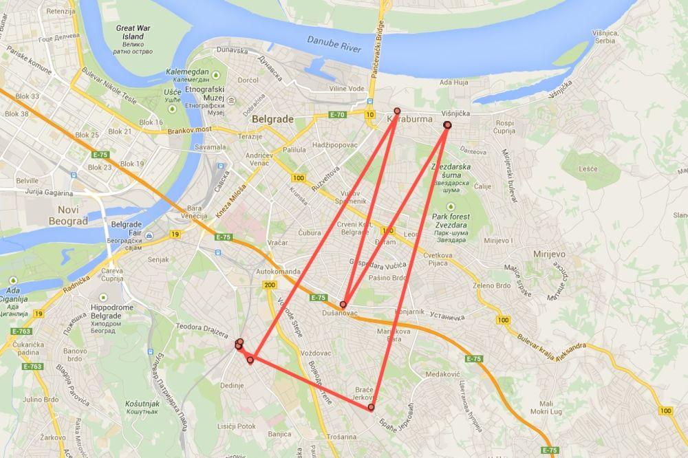 GUGL NAS PRATI: Kliknite na aplikaciju i videćete gde ste bili u Beogradu, Srbiji, na moru...