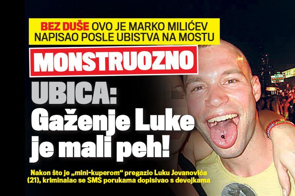 DANAS U KURIRU Marko Milićev: Gaženje Luke je mali peh!