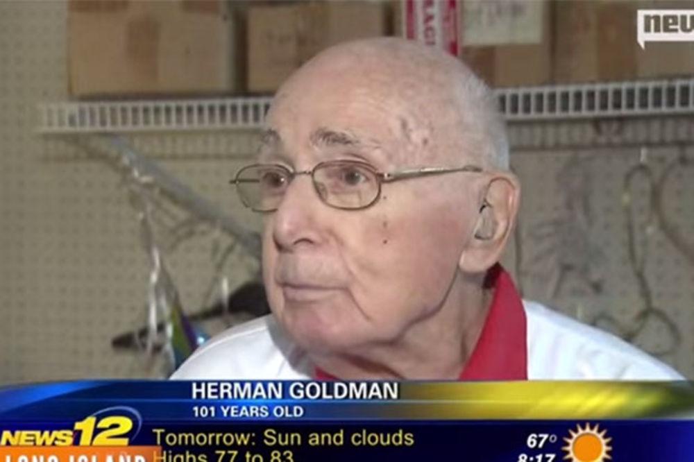 (VIDEO) A MI SE ŽALIMO: Amerikanac proslavio 101. rođendan na radnom mestu!
