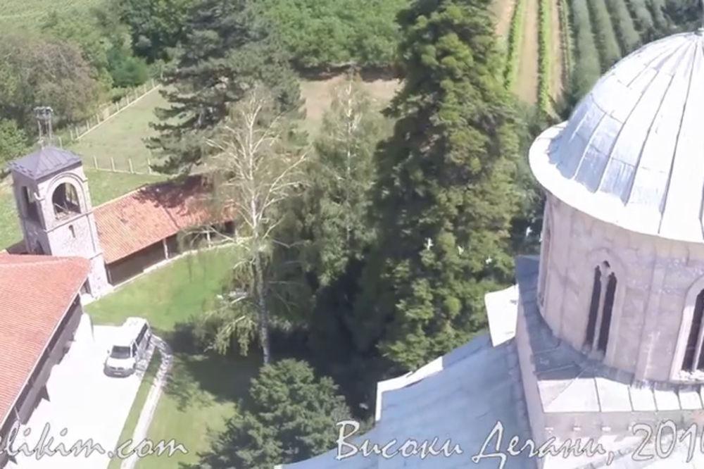 (VIDEO) Pogledajte manastir Dečani iz vazduha