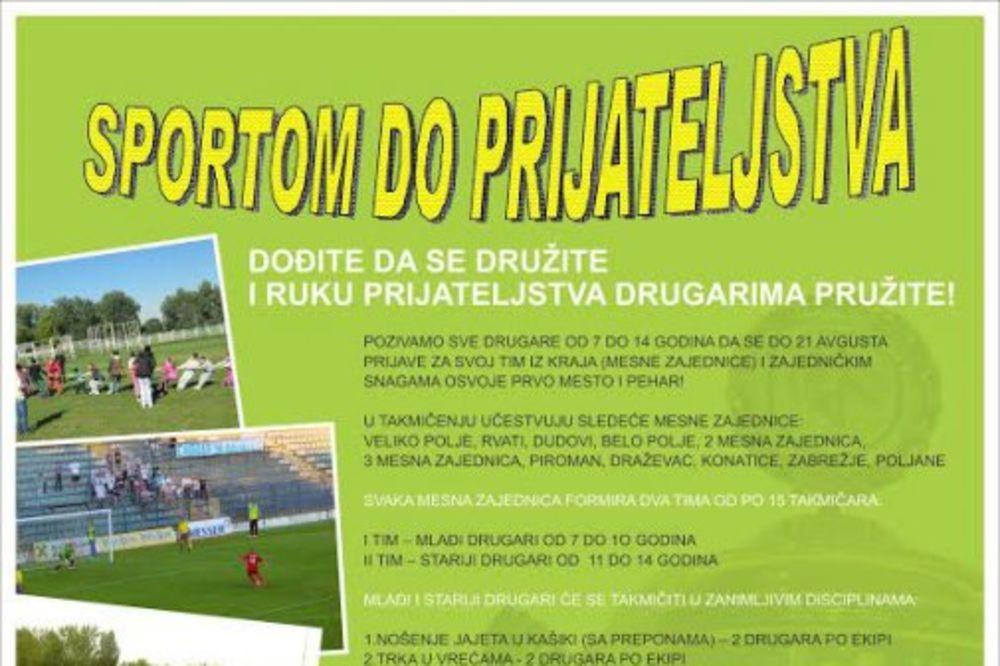 SPORTOM DO PRIJATELJSTVA: Sportske igre za decu iz poplavljenog Obrenovca!