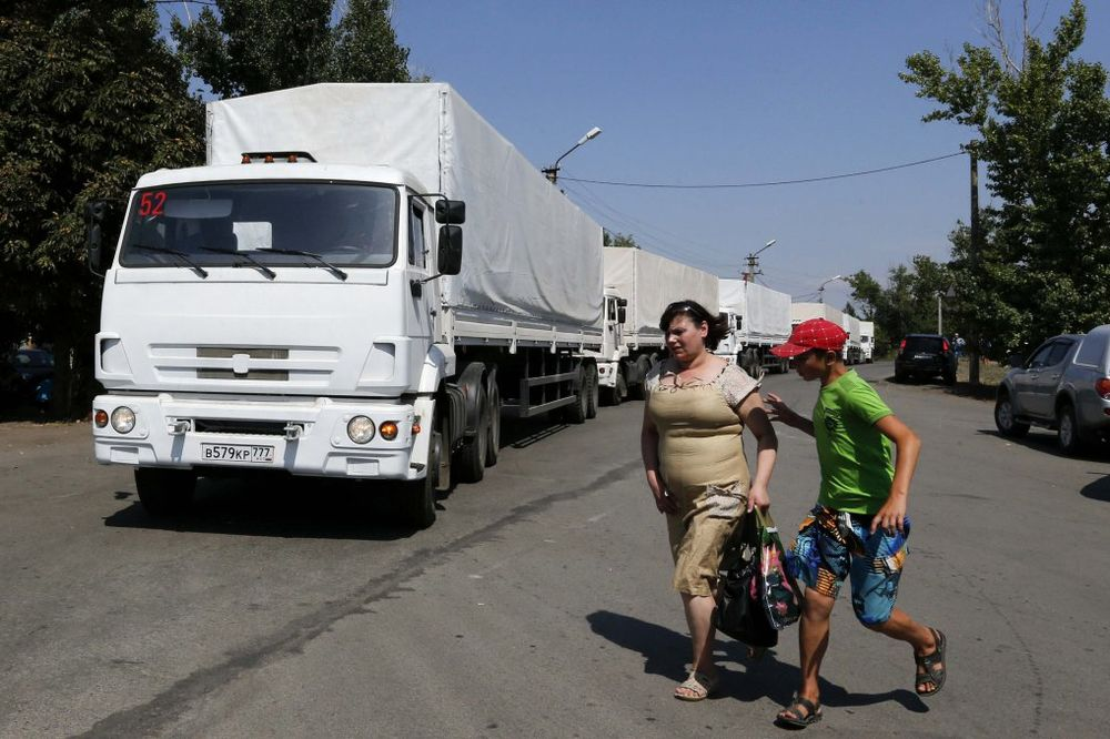 POMOĆ DOSTAVLJENA: 5 kamiona iz konvoja vratilo se u Rusiju
