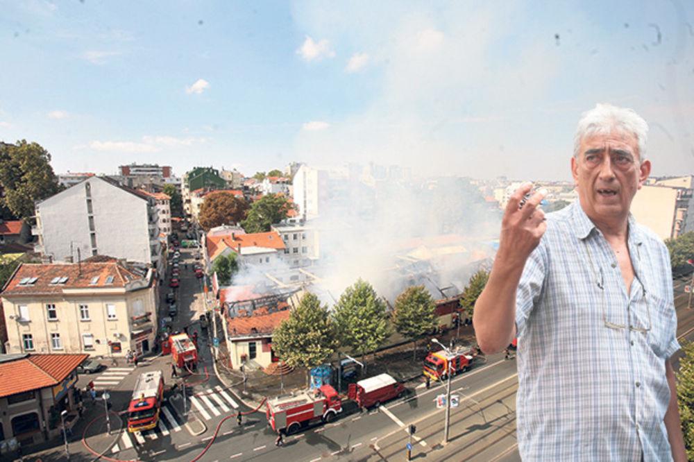 BESPOMOĆNI ČUVAR DEPOA: Goreo je kabl iza tezge, nisam uspeo da ugasim vatru!