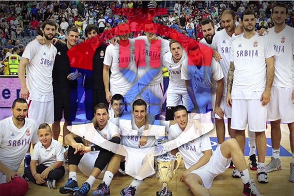 (VIDEO) IGRAJ I POBEDI: Poslušajte novu himnu košarkaša Srbije