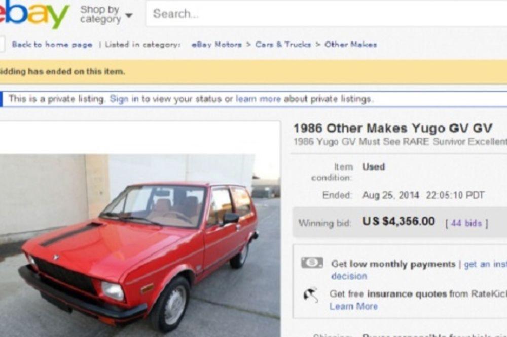 AMER SE KUNE U JUGA: Model iz 1986. prodaje za 4.356 dolara!