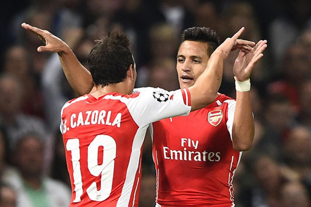 TOBDŽIJE U ELITI: Sančez odveo Arsenal u Ligu šampiona