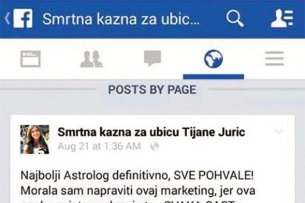 MONSTRUOZNO: Preko mrtve Tijane prodaju horoskope!