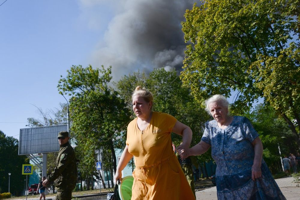 Donetsk: Exécution avant le bombardement, AP Photo