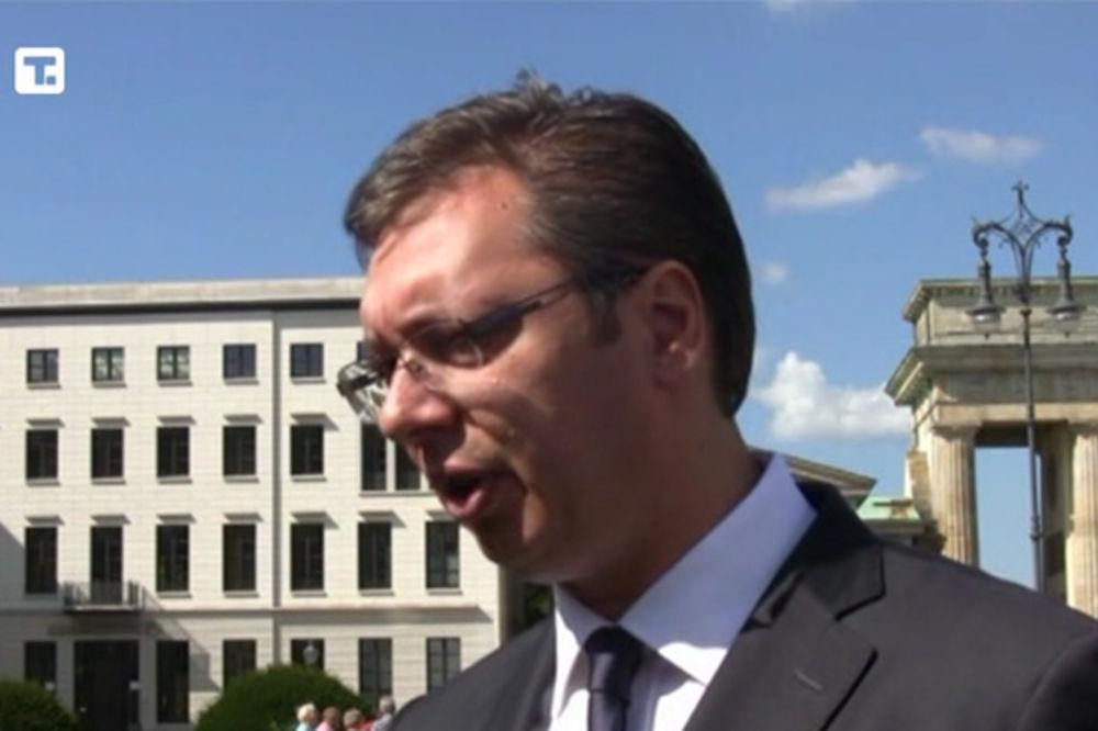 VUČIĆ U BERLINU: Naš zadatak je da srpski brod plovi mirno