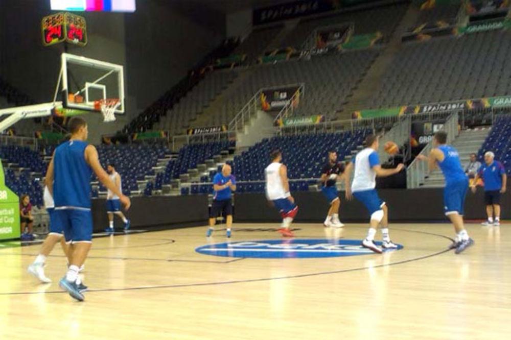 PRIPREME ZA EGIPAT: Košarkaši Srbije održali trening u dvorani u kojoj će igrati na SP