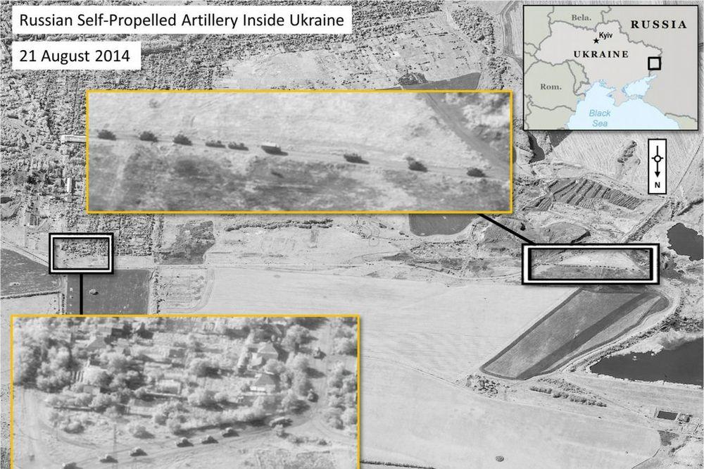 (FOTO) NATO OBJAVIO SATELITSKE SNIMKE: Rusi sa teškim naoružanjem ušli u Ukrajinu!
