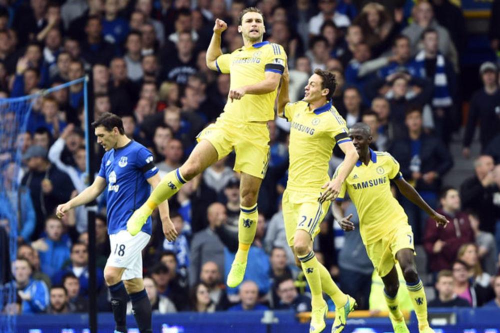 """LUDILO NA GUDISON PARKU: Čelsi pobedio Everton 6:3, Ivanović i Matić strelci za """"plavce"""""""