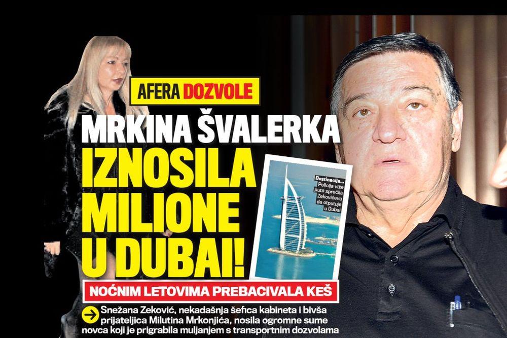 DANAS U KURIRU NOĆNI LETOVI: Mrkina švalerka iznosila milione u Dubai!