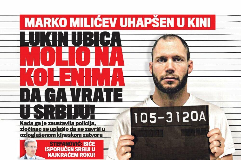 KUKAVICA MILIĆEV: Lukin ubica molio na kolenima da ga vrate u Srbiju!