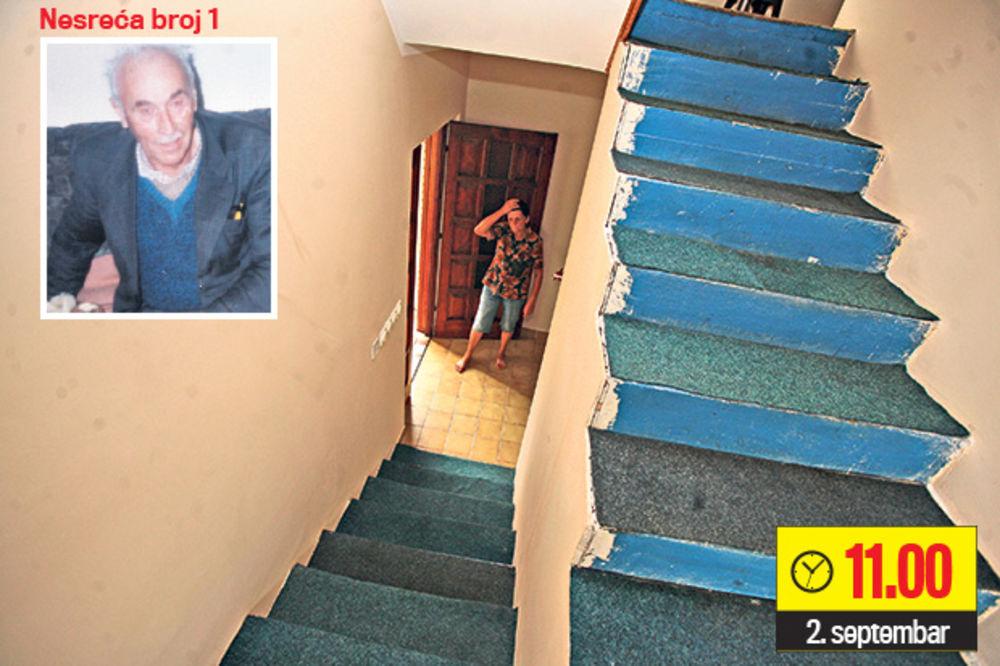 SERIJA POVREDA: Otac i sin pali niz stepenice!