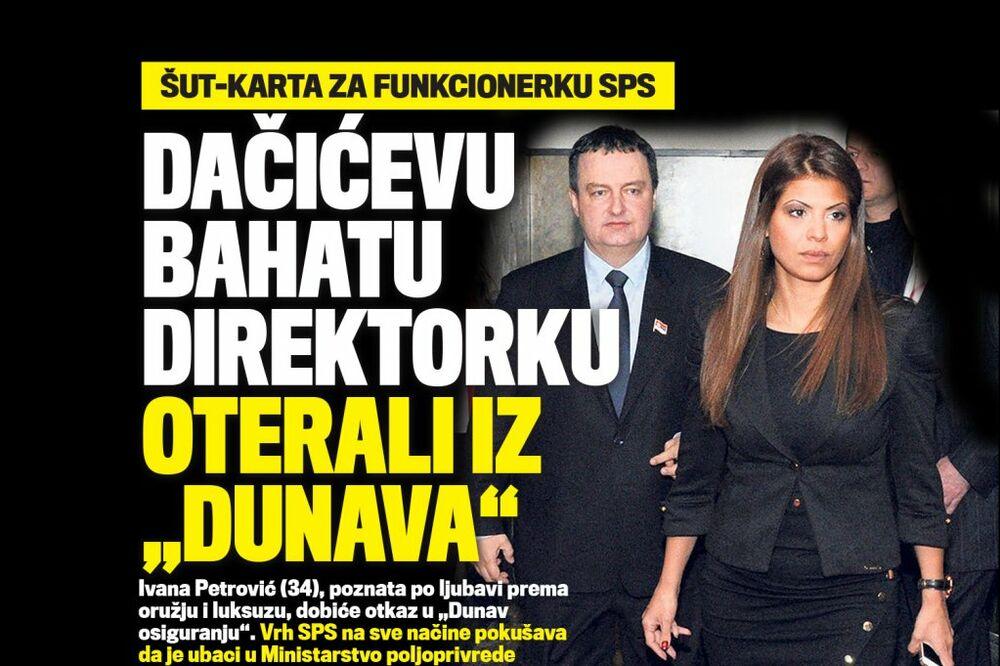 DANAS U KURIRU ŠUT-KARTA: Dačićevu bahatu direktorku oterali iz Dunav osiguranja!