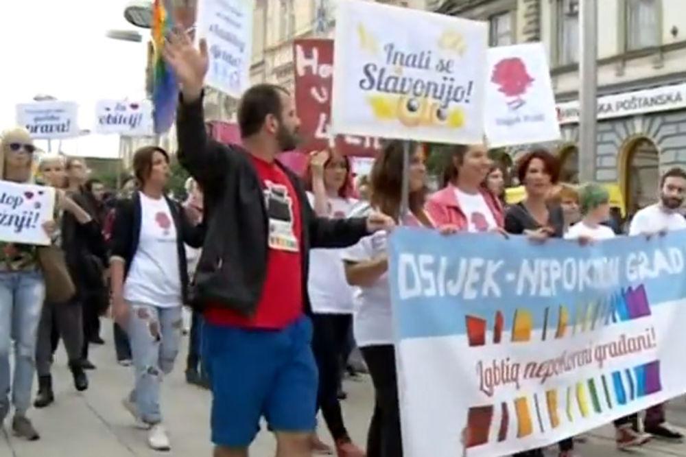 VOLI BLIŽNJEG SVOGA: Parada ponosa u Osijeku prošla bez incidenata