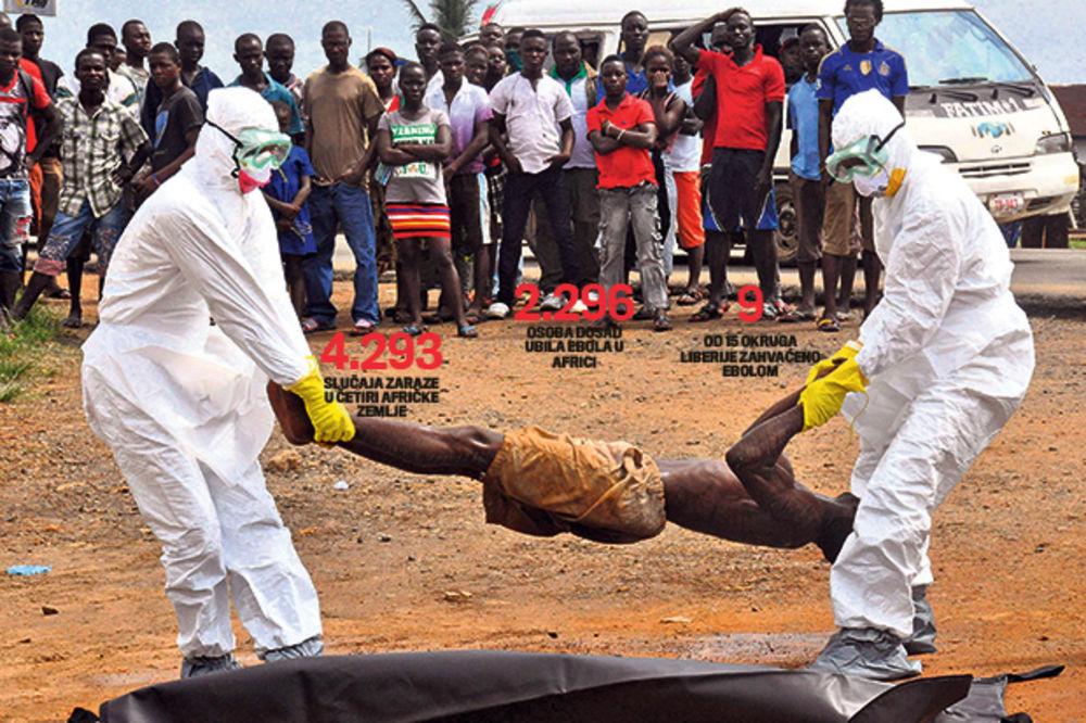 POŠAST ODNOSI ŽIVOTE: Ebola ubila više od 3.000 ljudi