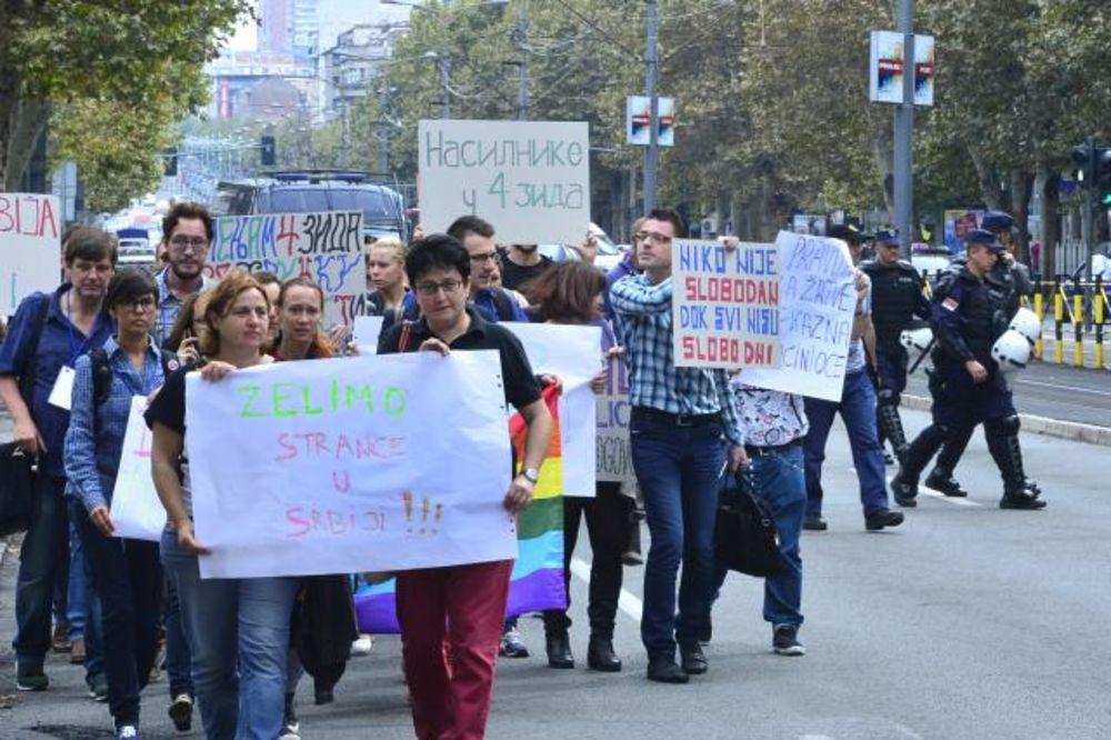ŠETNJOM PROTIV NASILJA: Protest LGBT zbog prebijanja Nemca u Brankovoj!