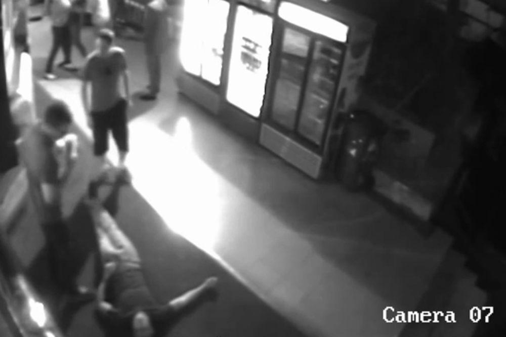 EKSKLUZIVNO: KRVNIČKI S LEĐA Pogledajte napad na Nemca na Zelenom vencu! (VIDEO)