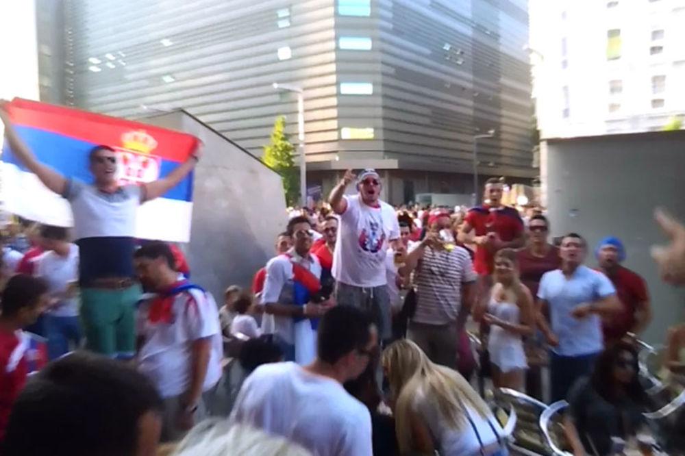 (VIDEO) SRBI HIT U MADRIDU: Navijači orlova napravili fantastičnu atmosferu uoči finala SP
