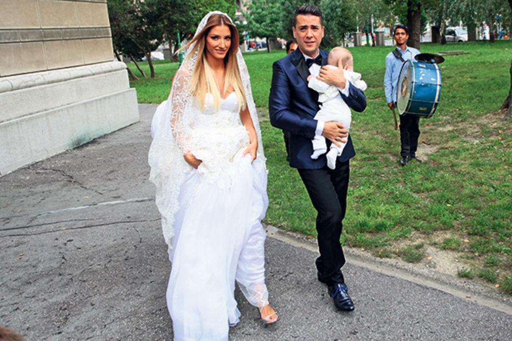 (FOTO) OKUPILI ELITU: Pola estrade došlo na Željkovu i Jovaninu svadbu